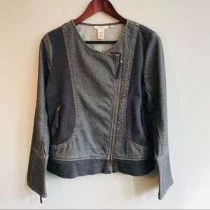 Sundance Winding Road Denim Moto Jacket in Gray